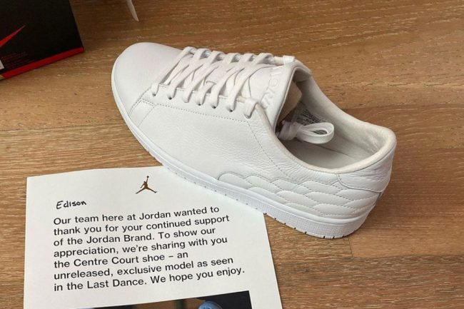 JORDAN BRAND GIVES OUT 'THE LAST DANCE' UNRELEASED CENTRE COURT MODEL