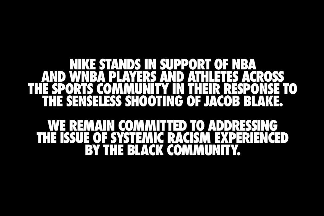 Sportswear Giants Release Their Statements on Jacob Blake Shooting
