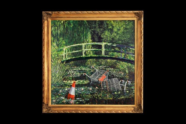 'Show Me the Monet' of Banksy Sells for US$9.9 Million at Sotheby's