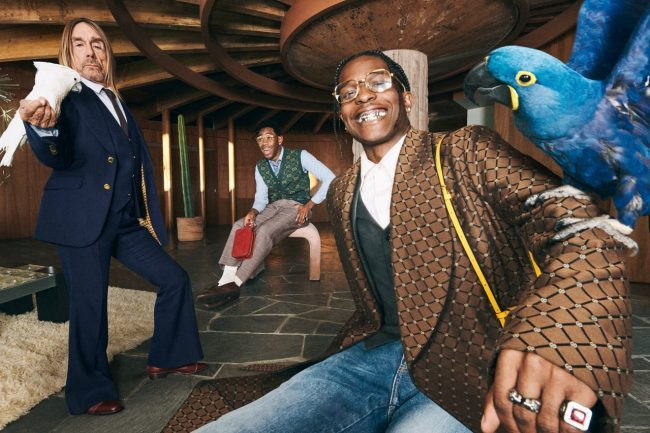 Gucci Tailoring Features A$AP Rocky, Tyler, the Creator, and Iggy Pop