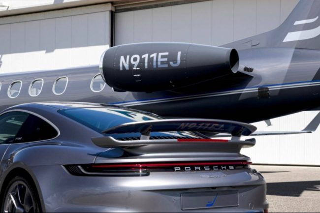 Get an Embraer Phenom 300E Jet with a Matching Porsche 911 Turbo S
