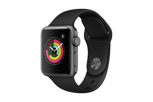 APPLE WATCH SERIES 3 38MM SPACE GREY WITH BLACK SPORT BAND - George Clooney