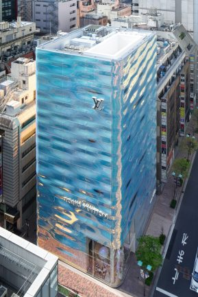 New Louis Vuitton Flagship Store in Ginza Looks Like Rippling Water
