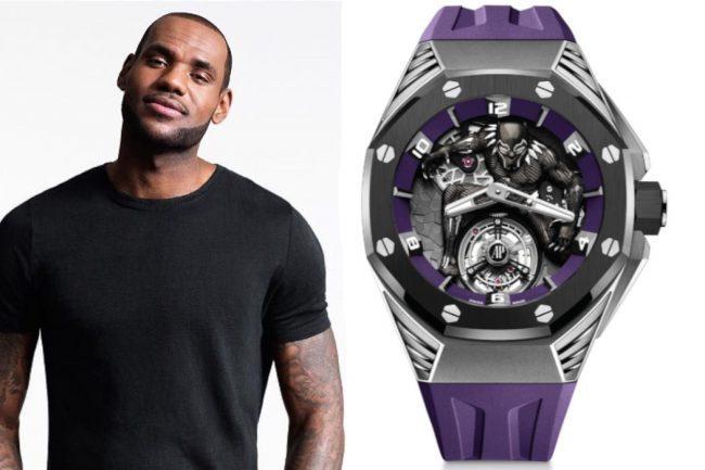 "LeBron James Wears Audemars Piguet's ""Black Panther"" Flying Tourbillon"