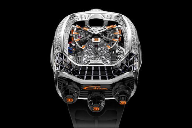 Jacob & Co.'s New Bugatti Chiron Tourbillon has a Supercar Engine Inside