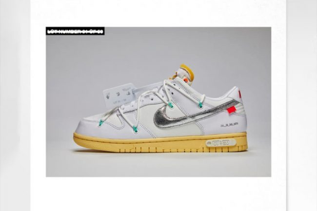 Virgil Abloh and Nike To Release 50 New Dunk Low Designs 'The 50'