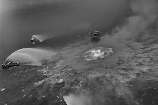 Gulf of Mexico: A Massive Ocean Fire After Underwater Gas Leak