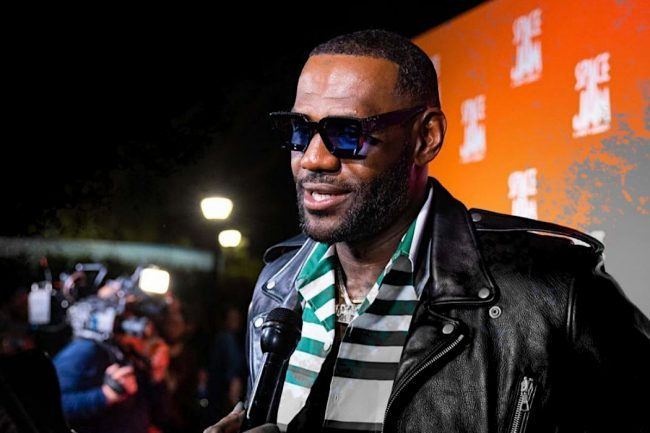 LeBron James Wears a Stylish Leather Jacket at a Red Carpet Premiere