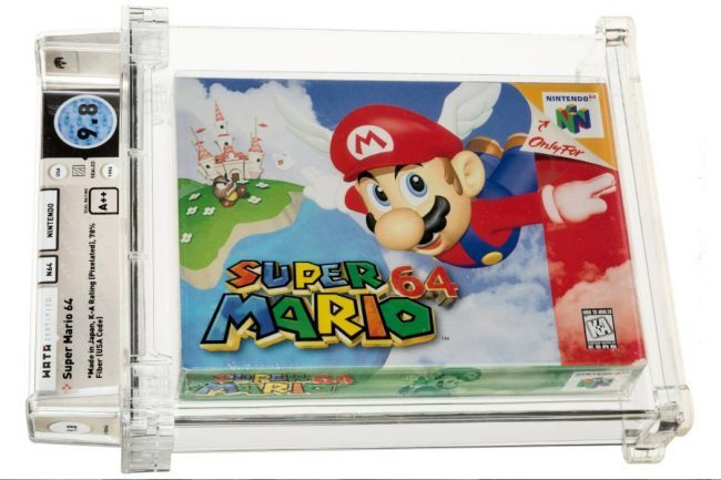 Super Mario 64: Most Expensive Sale Ever of a Video Game at Auction