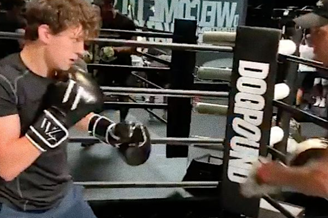 Tom Holland Shows Off Boxing Skills in New Spiderman Training Video