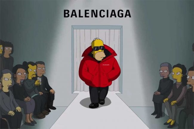 Balenciaga and The Simpsons Collaborate for 2022 Paris Fashion Week